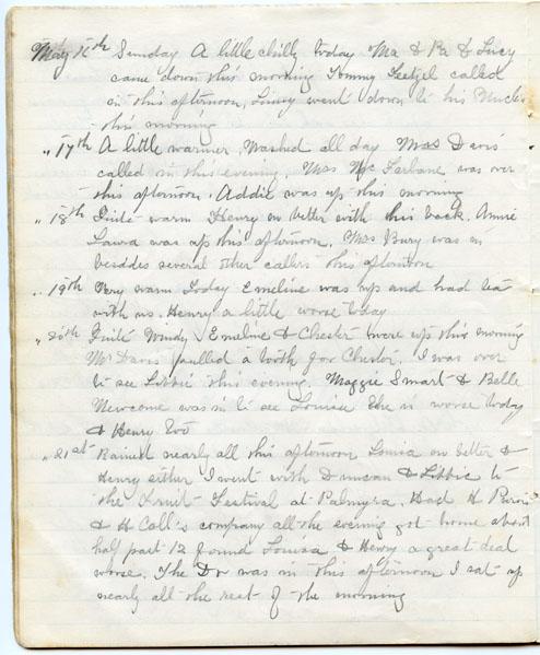 Ida Handy Diary pg. 26