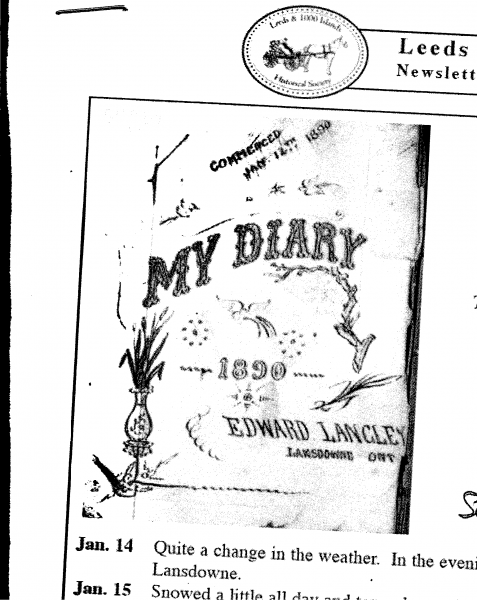Edward Lansley Diary