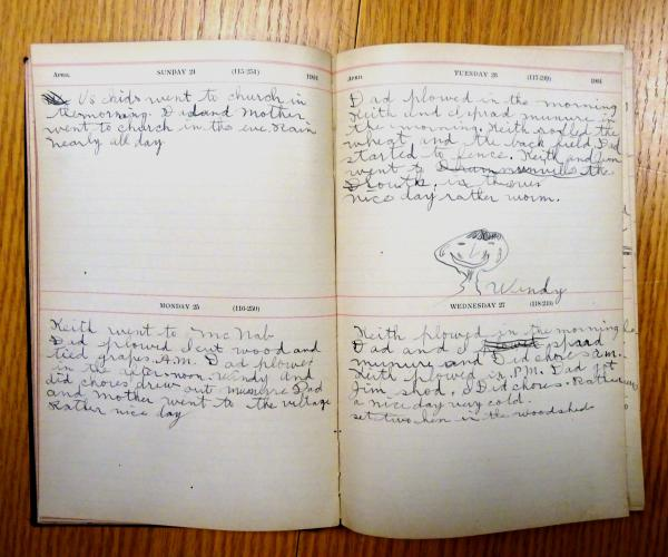 Page from Harold S MacLeod diary