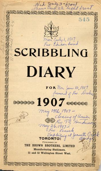 Shreve Diary