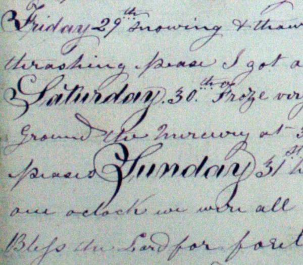Frederic's Penmanship