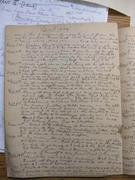 Vivien Atkin's Diary