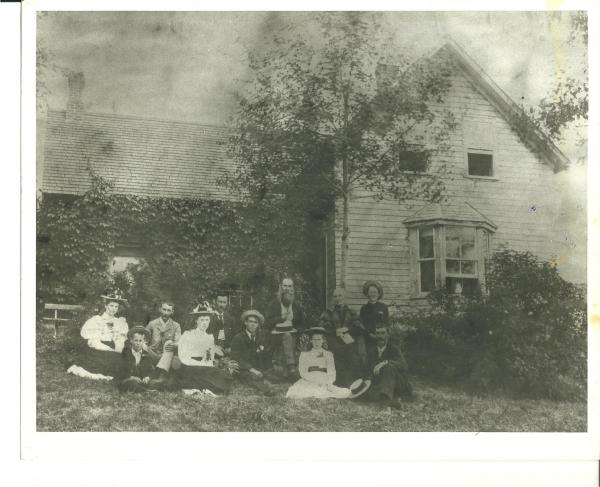 The Geddes family group at James Geddes farm on L. Cecebe. C. 1900