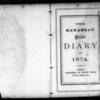 John Ferguson Diary & Transcription, 1874