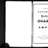 John Ferguson Diary & Transcription, 1871
