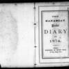 John Ferguson Diary, 1874