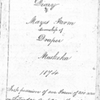 Robert Mayes Diary Collection
